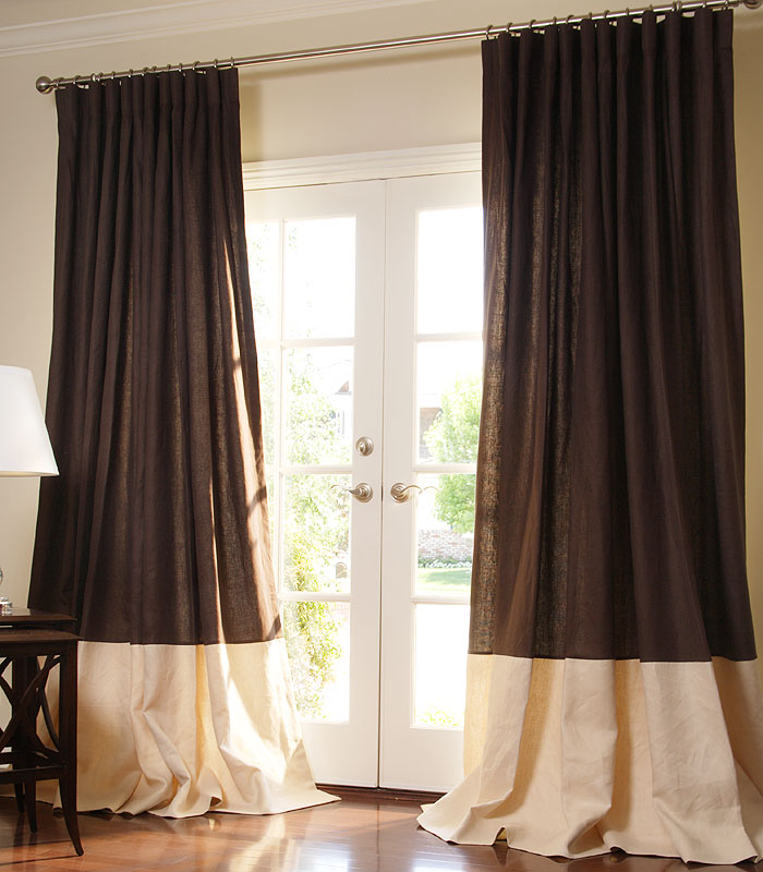 Chocolate Linen with Eggshell Linen Border
